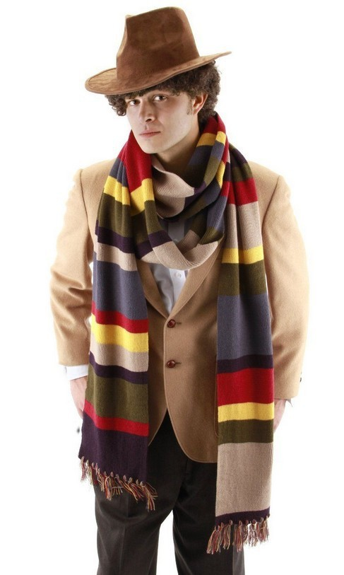 DR WHO 4TH DOCTOR 12 STRIPED SCARF COSTUME New TOM BAKER ...