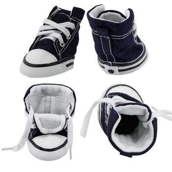 4pcs/set Denim Pet Dog Shoes 1