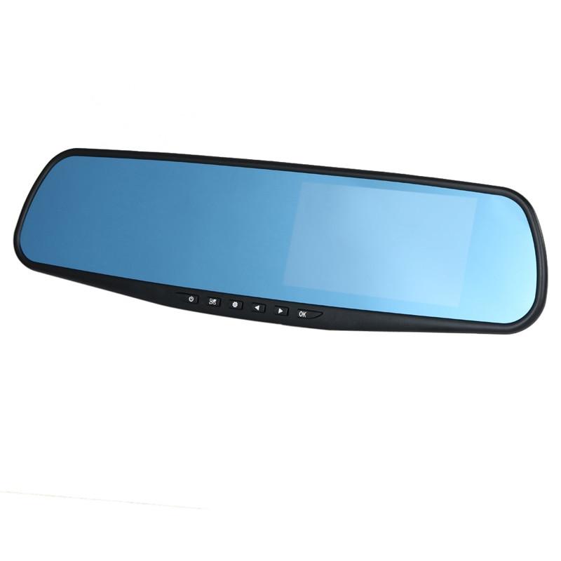 Newest 4.3 inch Full HD 1080P Car Rearview Mirror DVR Car Camera Parking Night Vision Car DVR Dual Camera Video Recorder цена