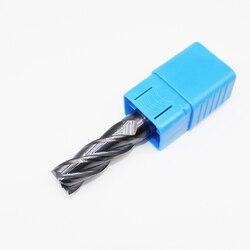 1 sztuk HRC50 16mm frezy z węglika spiekanego ENDMILL 4 flet D16X45LXD16X100L standardowa długość frezowanie boczne dłutowanie profilowanie twarzy młyn