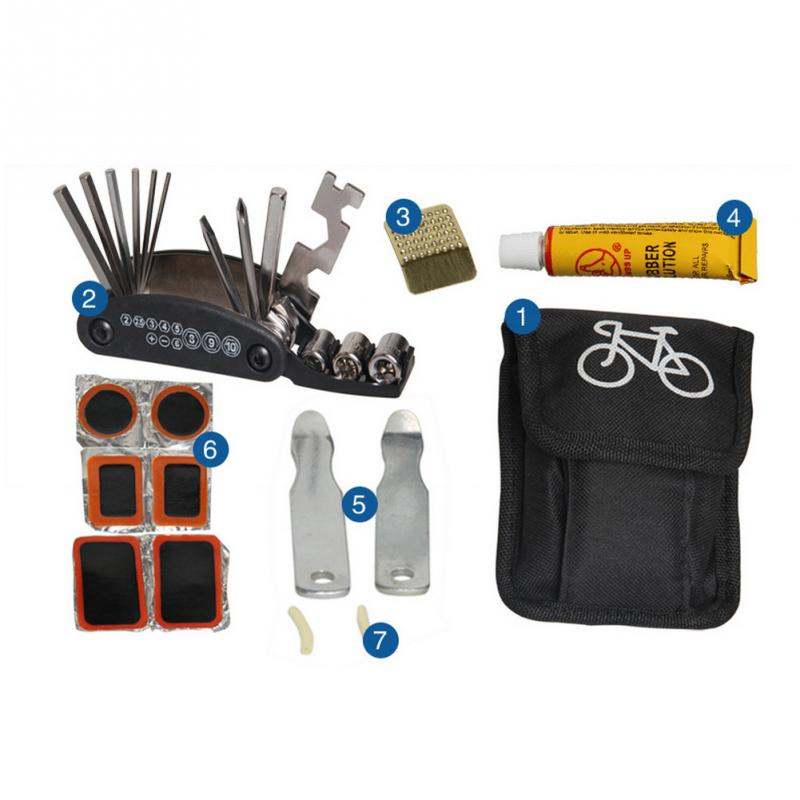 2018 New Arrive Mutilfucntion Bike Bicycle Repair Tool Box Kit Set Multitool Cycling Tire Repair Service Portable Tools and Bag sahoo 21040 portable multifunctional bike tire repair tool kit black