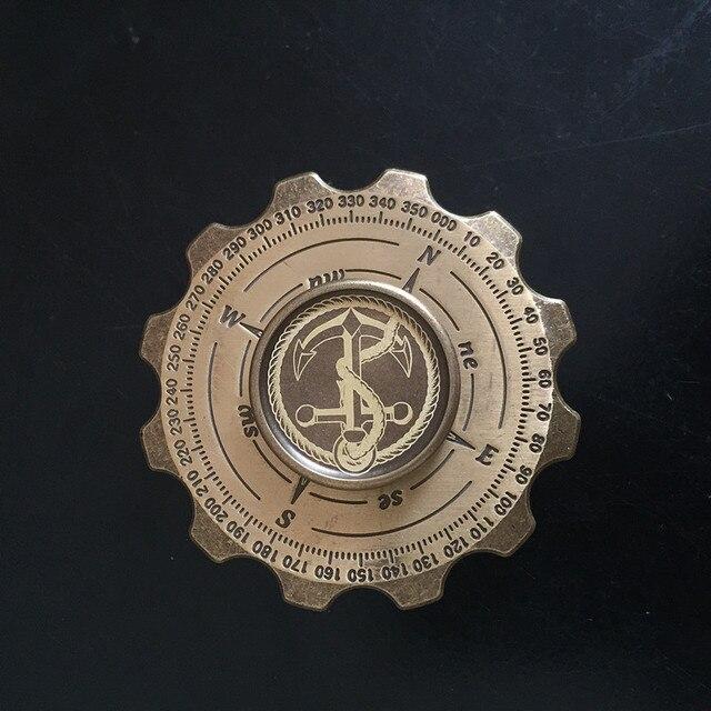Retro Magic Compass Pirate Hand Spinner Gear Gyro Finger Metal Fidget Spinner Torqbar Brass EDC Adult Finger Classic Stress Toys