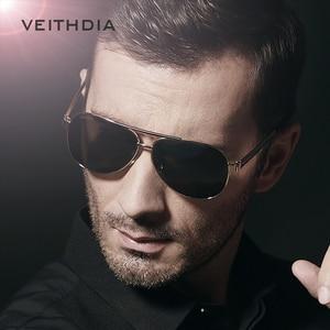 Image 4 - OCCHIALI DA SOLE VEITHDIA Con Il Caso Originale Occhiali Da Sole Polarizzati Uomini Del Progettista di Marca Occhiali Da Sole UV 400 Lenti gafas oculos de sol masculino 3152
