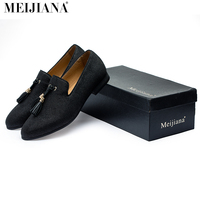 Handmade Metal Fashion Gold Tassel Of Loafers Red Bottom Loafers Gentleman Luxury Fashion Stress Shoes Men