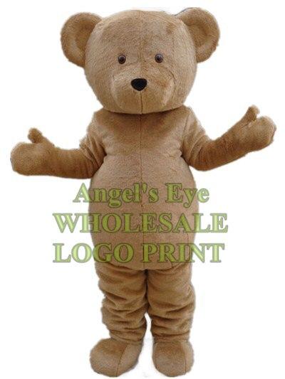 traje da mascote do urso marrom urso personagem de desenho animado