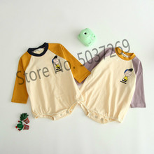 Autumn Baby Bodysuit 2019 Baby Girl Long-sleeved Pure Cotton Breathable Hat-jacket Climbing Suit And Bottom-wrapping(No sock) picturesque childhood 2018 baby footies cotton long sleeved long sleeved yellow stripe balloon climbing suit