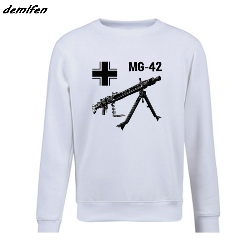 Hard-Working Spring Autumn Men Fleece Hoodie Mg 42 Machine Gun Germany Wwii Sweatshirt Casual Male Hip Hop Coat Tops Harajuku Streetwear Hoodies & Sweatshirts