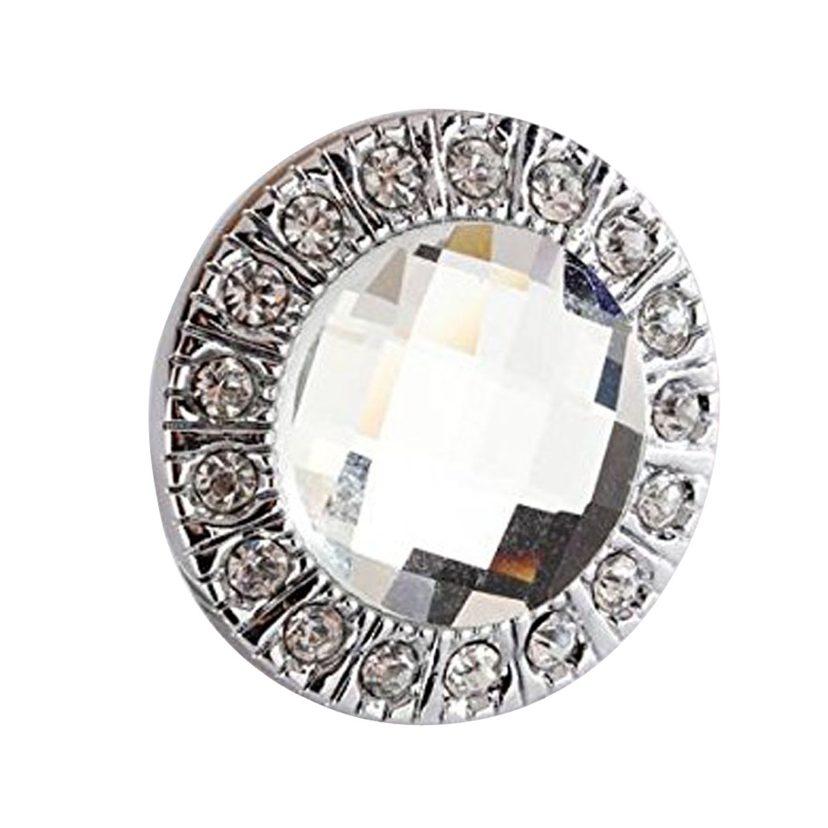 цена на DHDL-10pcs Crystal Glass Clear Round Pull Handle Glittering Rhinestone Knob for Cupboard Drawer Silver