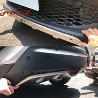 Car Styling For Toyota C HR CHR 2016 2017 Stainless Steel Front & Rear Bumper Skid Protector Guard Plate Cover Trims 2pcs