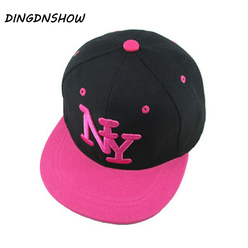 [DINGDNSHOW] 2019 Fashion Children NY Letter Baseball Cap Snapbacks Kid Boys and Girls Adjustable Hip Cop Cap Casquette image