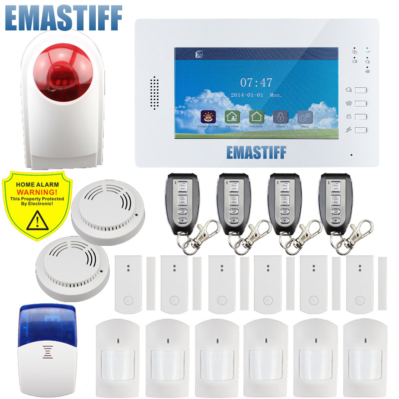 X6 APP Stronger signal 868mhz Big Color Screen 7inch GSM Home Security Alarm System for home English/Germany/Italian/Dutch menu gsm alarm system with multi language english german italian dutch menu for option home security 7 inch touch screen home alarm