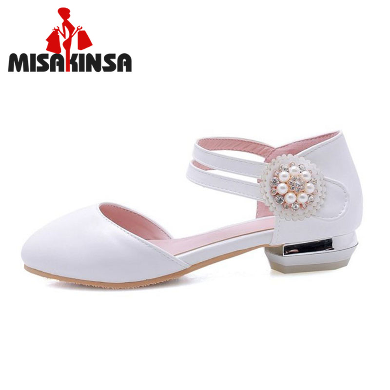 FITWEE Bling Crystal Women Flats Shoes Round Toe Solid Color Leisure Shoes Bead Soft Comfort Women Footwear Size 33-43