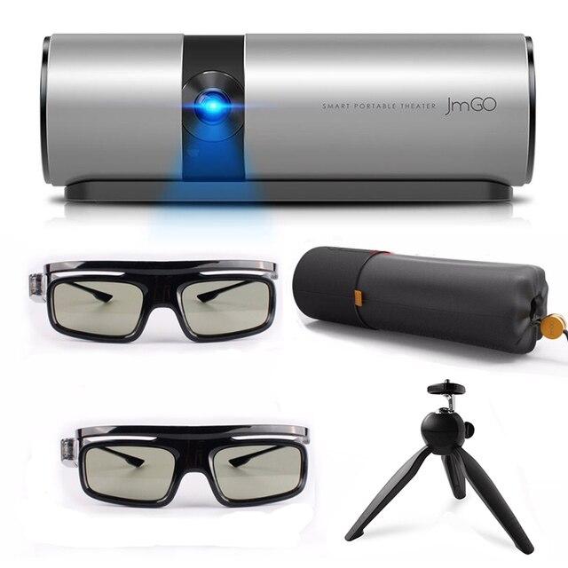 Jmgo ver p2 mini projetor dlp 3d full hd 1080 p proyector inteligente teatro 180 polegada hi-fi bluetooth estéreo portátil beamer