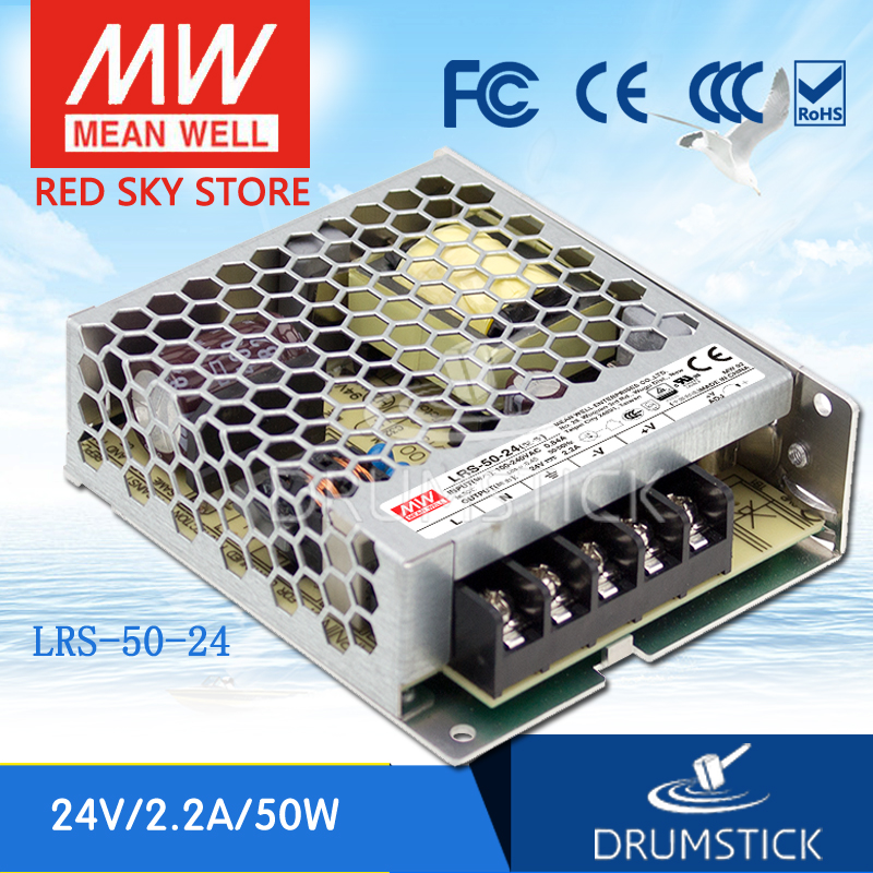 (Only 11.11)MEAN WELL LRS-50-24 (6Pcs) 24V 2.2A meanwell LRS-50 24V 52.8W Single Output Switching Power Supply(Only 11.11)MEAN WELL LRS-50-24 (6Pcs) 24V 2.2A meanwell LRS-50 24V 52.8W Single Output Switching Power Supply