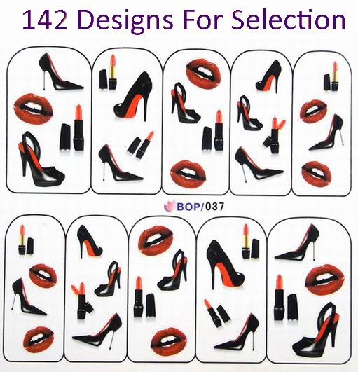 142 Designs Pretty Nail Art Stickers Decals 300pcs Lot Choose Your Bop Free
