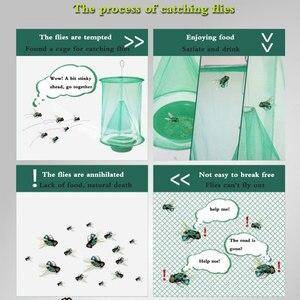 Image 5 - 2 قطعة الصيف الساخن معلق flyالماسك في الهواء الطلق للطي عالية الكفاءة القضاء على الذباب قفص صديقة للبيئة غير سامة.