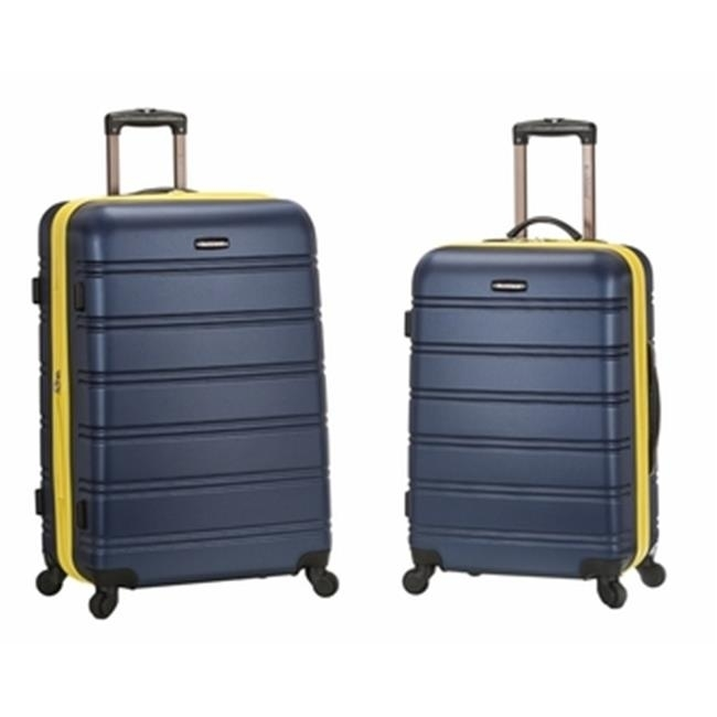 Rockland F225-NAVY 20 x 28 in. Expandable Abs Spinner Suitcase Set Navy - 2 Piece pm company expandable dark green transit sack 18w x 4d x 14h 04647 dmi ea