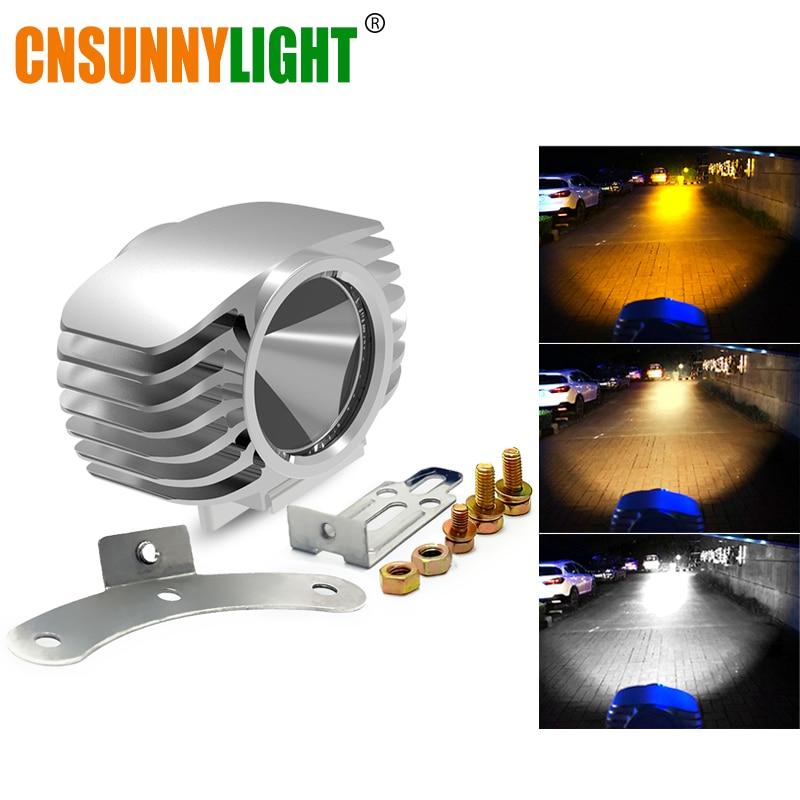 CNSUNNYLIGHT 2Pcs Motorcycle LED Headlight Assembly 3000K 4300K 6000K Led Motorbike Spotlight Accessories Spot Lights Waterproof