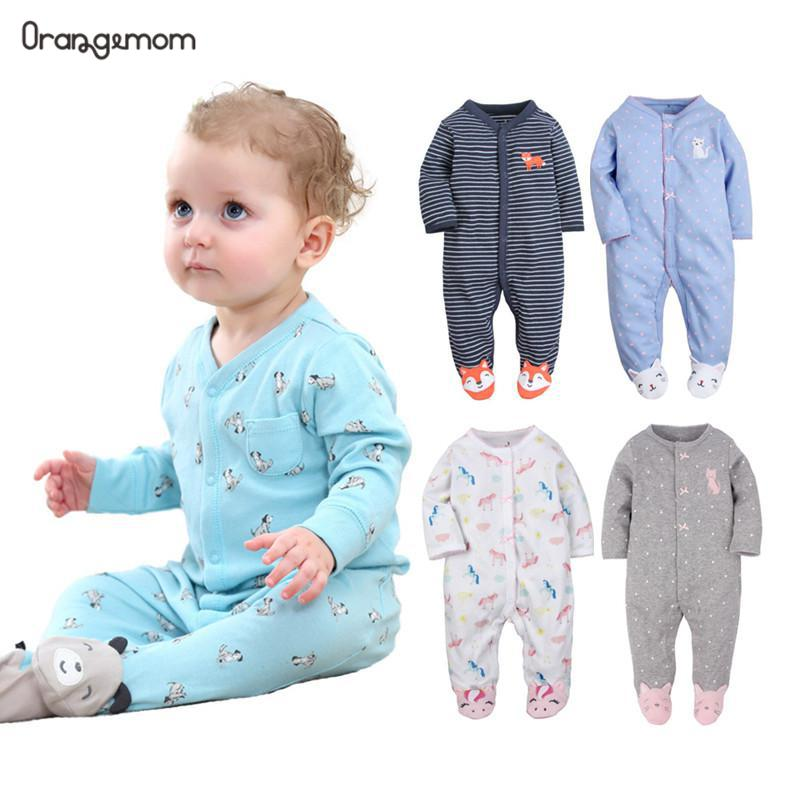 Orangemom 2019 Fashion Baby Pajamas Infant Baby Girl Clothing Unisex Baby Boys Clothes 100% Cotton Baby Rompers Newborn