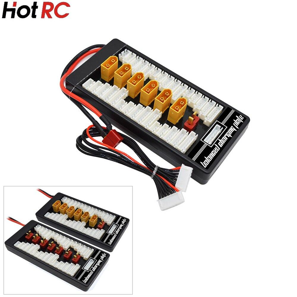 Neue HotRc Lipo Lade XT60 T Stecker Adapter Board 2-6 s Ladung/Balance Board Lipo Batterie für imax B6 B6AC Freies verschiffen
