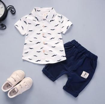 Βαμβακερό καλοκαιρινό σετ t-shirts και παντελόνι για αγοράκια και κοριτσάκια από 12 μηνών έως 4 ετών