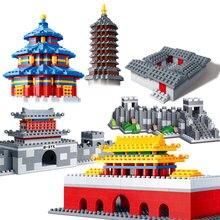 BanBao Tiananmen Великая стена храм небо башня китайская архитектура развивающие строительные блоки кирпичи Дети Детские игрушки модель