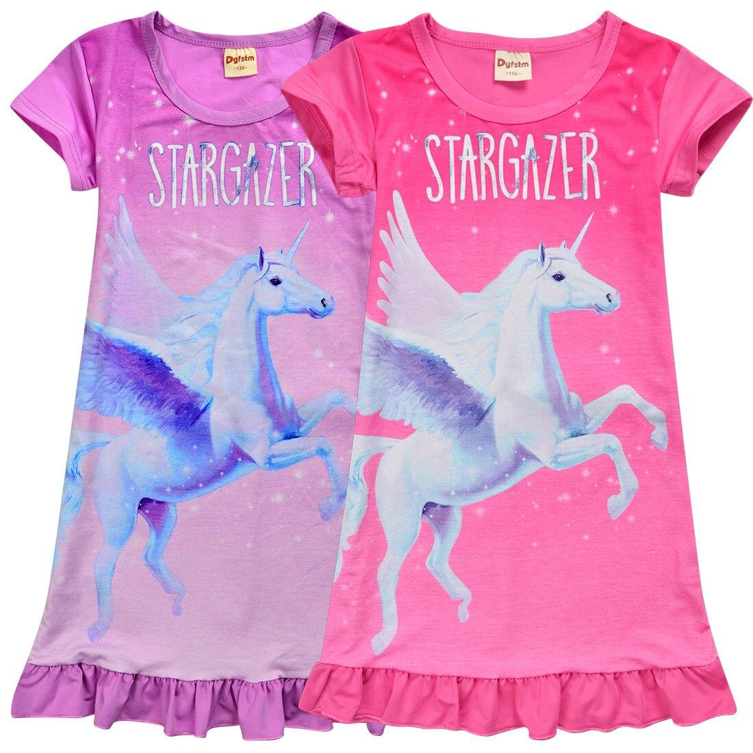 best website 10585 3fd7d 2019 einhorn Pyjamas Mädchen Kugurumi Halloween Licorn Pyjama Nachthemd  Stich unicornio Nachtwäsche Kleid sommer kleidung für mädchen
