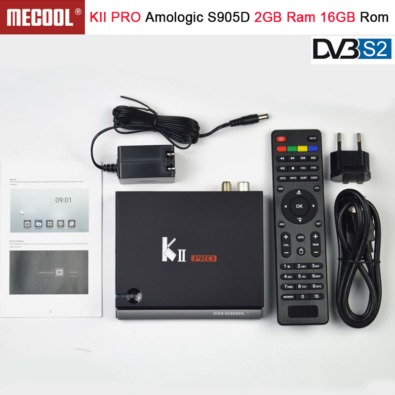 KII PRO DVB-S2 DVB-T2 S905d Android 7.1 TV Box Quad Core 2GB 16GB K2 pro DVB T2 S2 4K Media player Cline NEWCAMD Dual Wifi BT4.0 цена 2017