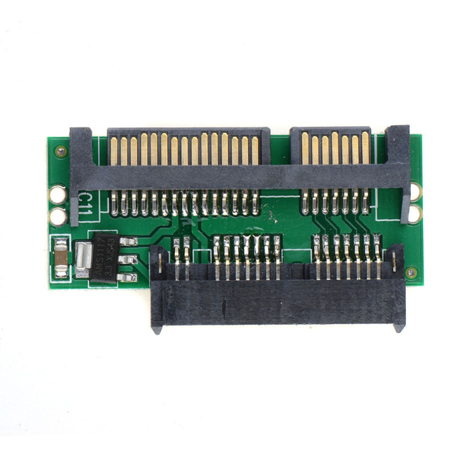 Pro 1.8 Micro MSATA SSD TO 7+15 2.5 inch SATA Adapter Converter Card Board Computer Cables & Connectors