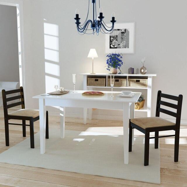 IKayaa 2 unids modernas sillas de comedor de madera Maciza silla de ...