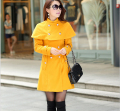 hot sale New Korean Style Fashion Women Winter Coat Elegant Shawl Pure color Woolen Coat Big yards Slim Women Woolen Coat G1975