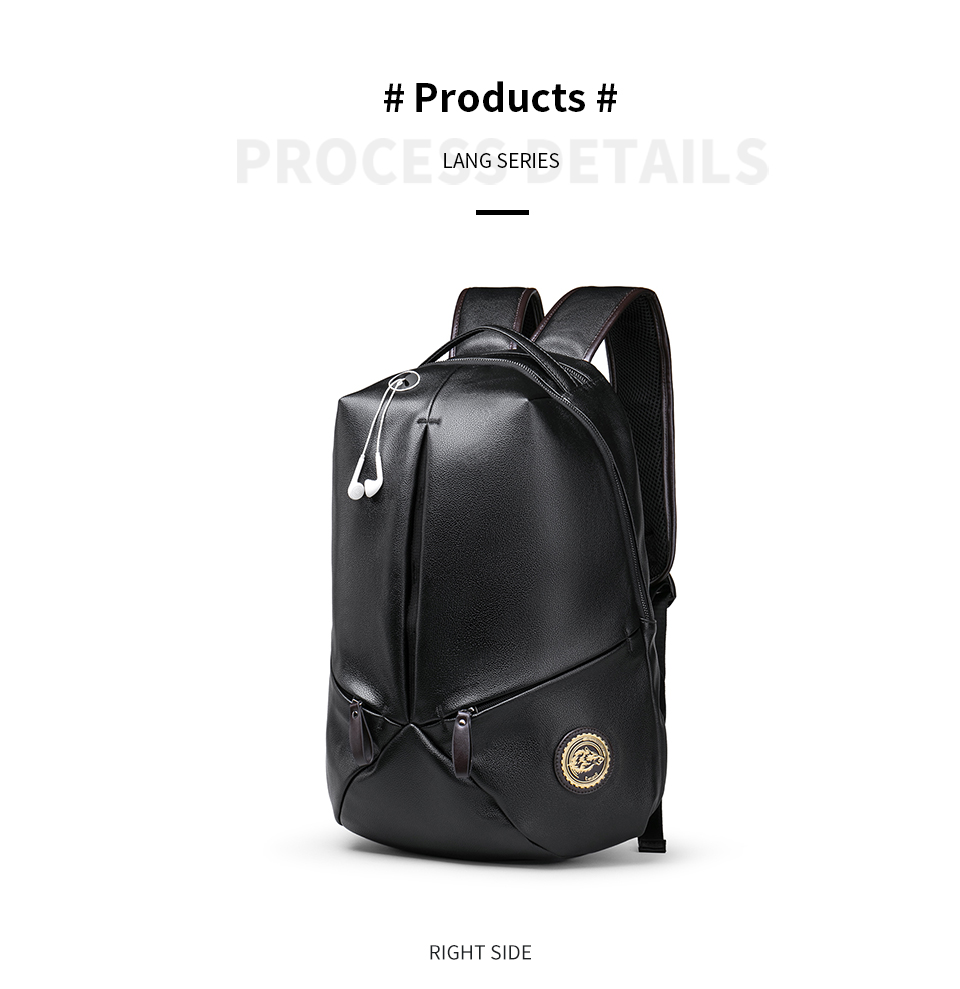 2018 Fashion Men S Leather Backpack Luxury Designer Youth Cool