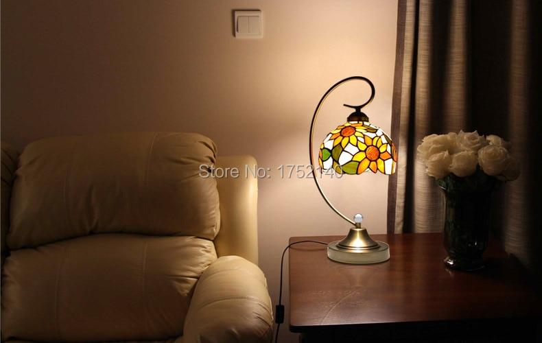 Lamp Slaapkamer Nachtkastje : Pastorale retro bureaulamp tafellamp touch control dimmer