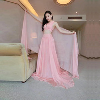 2018 Women Dresses Spring Summer Elegant Sexy Off Shoulder Plus Pink Size Vintage Evening Party Club