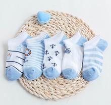 цены Children's Socks Summer New Cotton Cartoon Cute Baby Socks Thin Mesh Breathable Boat Socks Children Socks Wholesale 5 Pairs/bag