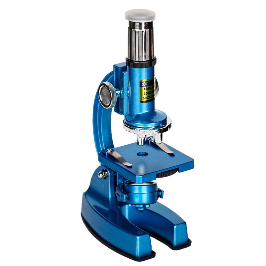 DIY 100X 200X 300X 600X 1200X Hd gran angular microscopio óptico puzle análisis celular equipo Experimental Stem Toy para niños - 2