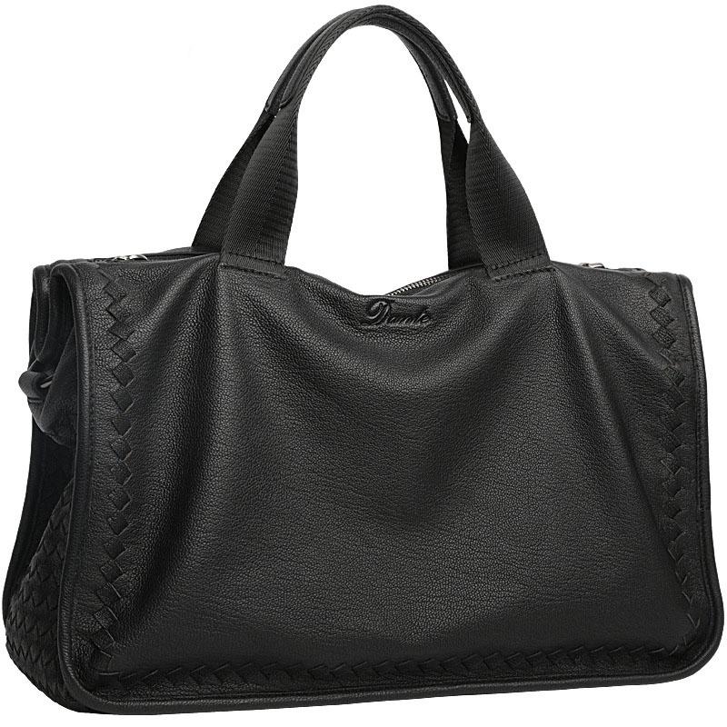 Men's Woven Sheepskin Handbag Business Genuine Leather Shoulder Bag Soft Leather Casual Briefcase Large Capacity Bag.