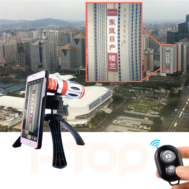 2017 12.5X Manual Focus Telephoto Lentes Telescope Zoom Lenses With Mobile Tripod Case For iPhone Samsung Phone camera Lens Kit