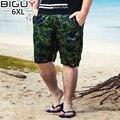 BIG GUY Mens Summer Beach Shorts Male 2017 Green Spandex Men Boardshorts Plus Size 4xl 5xl 6xl Men Board Shorts 1562