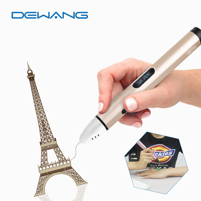 DEWANG  Fourth Generation 3D Pen USB Kids Drawing Printing Pen  Best 3D Printer Pen dewang 1 75mm 3d printer pen kids kids toy education 350 meters pla filament 3d drawing pen