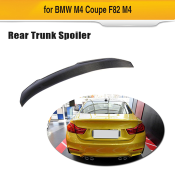 For F82 M4 Carbon Fiber Car Rear Spoiler For BMW F82 M4 Coupe 2 Door 2014 - 2018 Trunk Boot Wing Lip Car Sticker