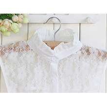 Summer Lace Shirt Vertical Detachable Collars Ladies Women Solid Color All-match Fake Collar Wholesale FS0331