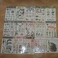 1 folhas direto da Fábrica rosto para Tokyo Ghoul EXO TF combinação padrão tatuagem adesivos 30--44 Gintama anime branco