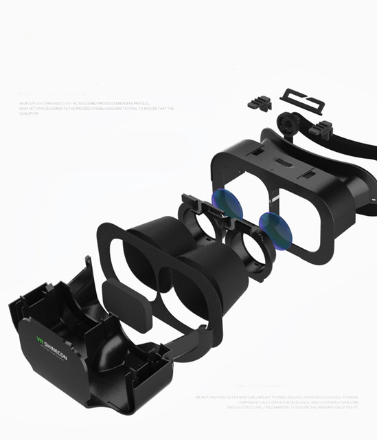 VR SHINECON BOX 5 Mini VR Glasses 3D Glasses Virtual Reality Glasses VR Headset For Google cardboard Smartp 5