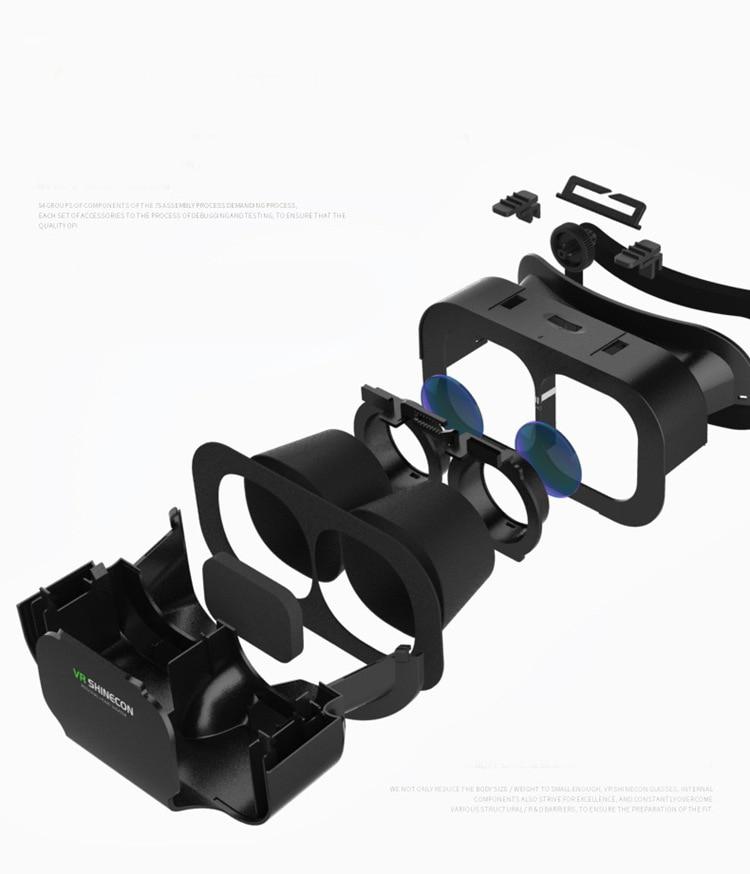 VR SHINECON BOX 5 мини VR очила 3D очила очила - Преносимо аудио и видео - Снимка 5