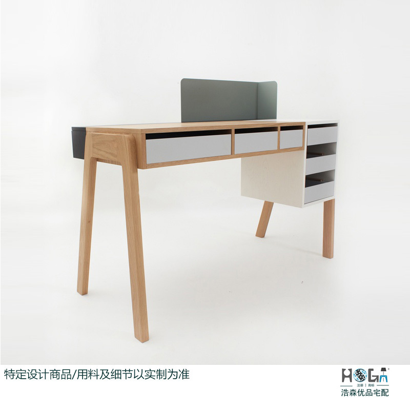 Online Scandinavian Minimalist Modern Style Designer New Desk Computer Furniture Quality Wood Green Wax Aliexpress Mobile
