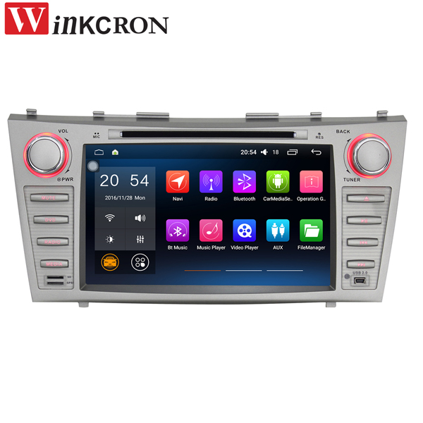 Car PC 8 1024*600 Double 2 Din Quad Core Android 6.0 Car Radio Stereo GPS Navigation For Toyota Camry Head Unit Multimedia