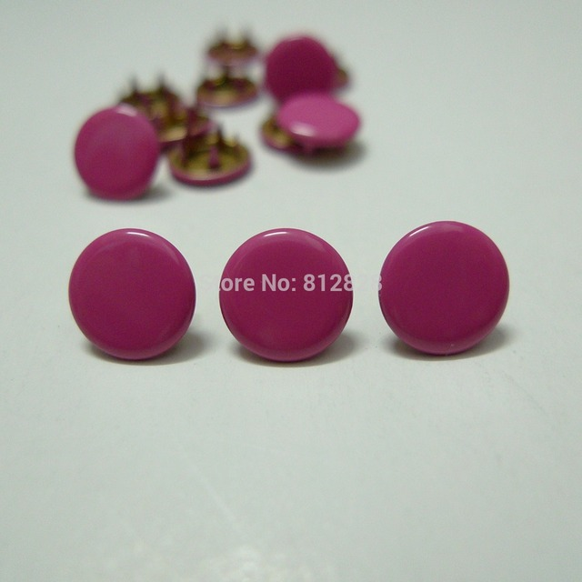 50 Sets 10mm Solid Color #17 HOT PINK Prym Prong Snap Buttons Oeko ...