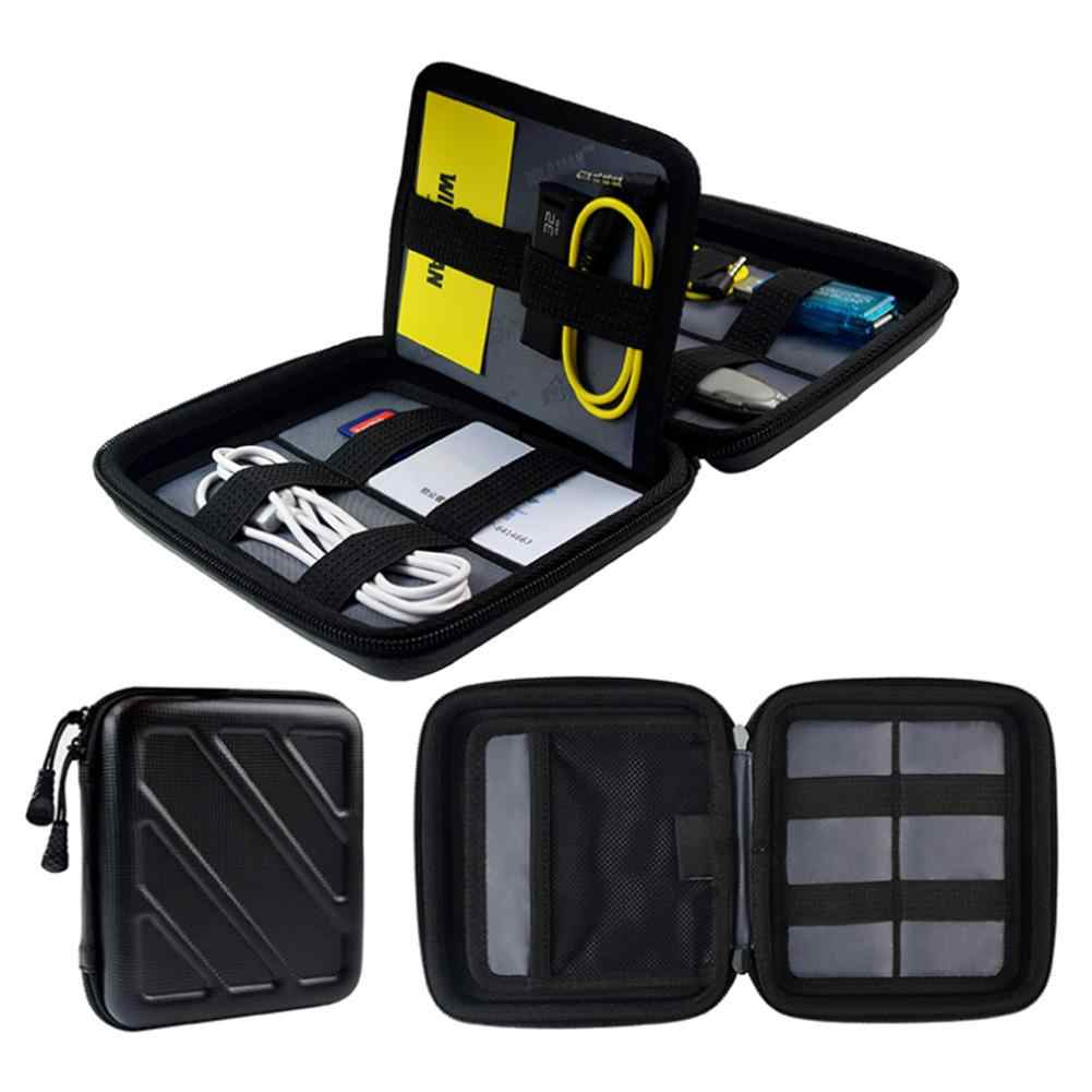 Waterproof Portable Travel Digital Charge Cable Hard Drive Storage Case Bag