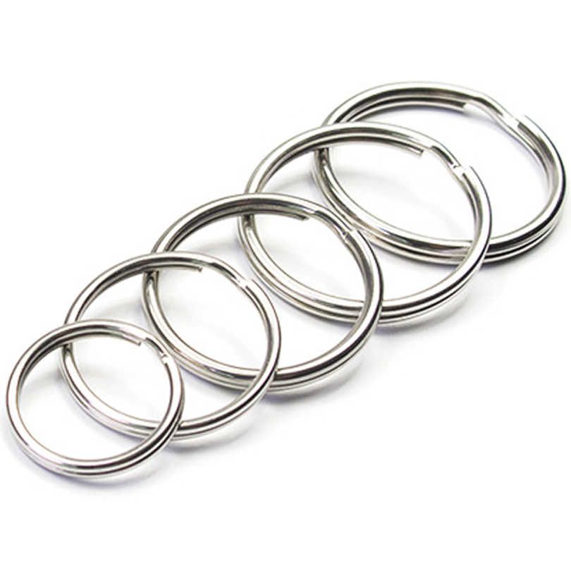 10PCS Multiple Sizes Round Split Keyring Metal Key Chain Ring Holder for Tool Toys Jewelry Accessories J208